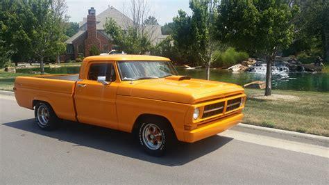 ford f100 custom show truck chopped orange f100