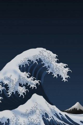 japan waves kanagawa painting iphone  wallpaper