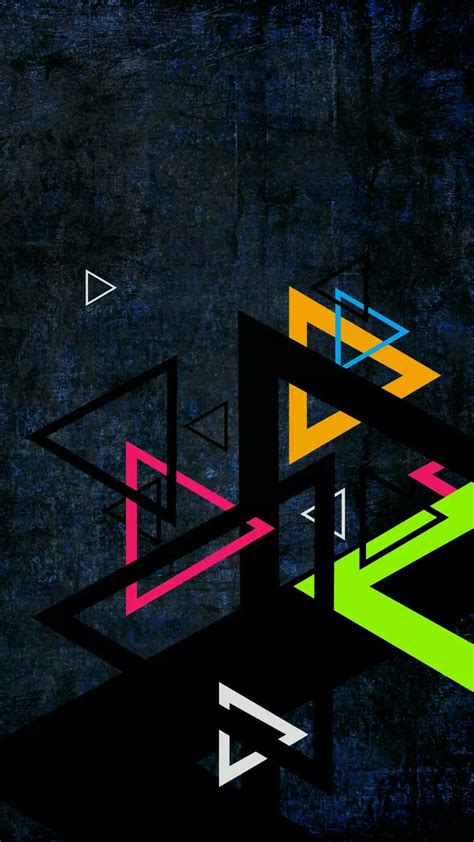 Android Attractive Lock Screen Wallpaper Hd by Geometeic Triangles Wallpaper Abstract And