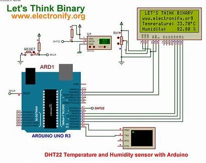 Arduino Sensor Temperature Humidity Uno Schematic Diagram