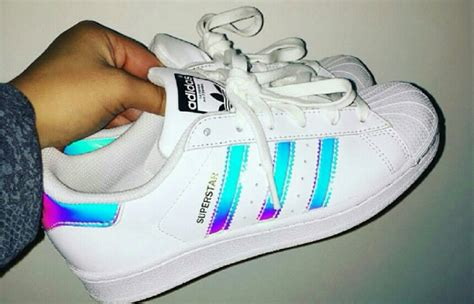 Holographic Adidas Superstar On The Hunt