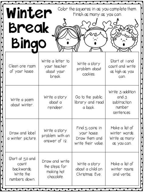 Winter Break Homework   Teacher favorite things, Homework