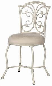 Hillsdale, Furniture, Sparta, Metal, Vanity, Stool, White, Beige, -, Walmart, Com
