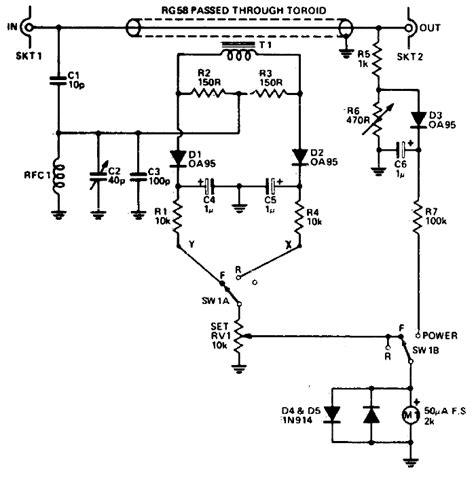 rf power meter circuit diagram world