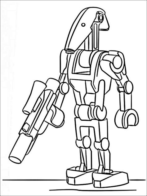 sta e colora minecraft lego wars coloring pages 6 battle droid