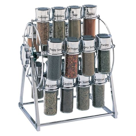 Thompson Spice Rack by Olde Thompson 16 Jar Carousel Spice Rack Set With Spices