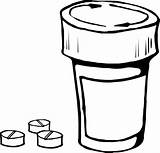 Coloring Bottle Medical Pills Medicine Pill Tablet Capsule Flask Drug Drugs Container Medication Medicines Template Capsules Ampule Pixcove Prescription sketch template