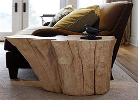arredare casa   tavolini  tronco  legno naturale