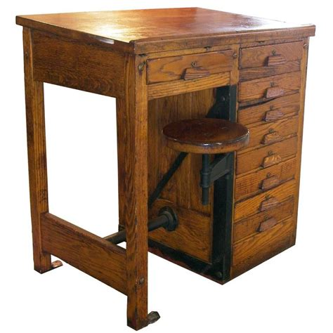 Vintage Drafting  Lab Table Or Desk With Swing Out Seat. Black Modern Dining Table. Cost To Move A Pool Table. Dual Monitor Desk Stand. Standing Desk Extension. Yaesu Desk Mic. Moroccan Table Lamps. Ikea Tray Table. Umaine It Help Desk