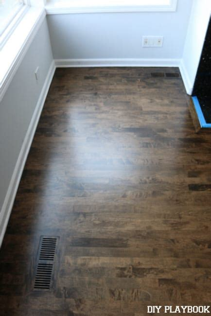 Our New Stained  Ee  Hardwood Ee   Floors Diy Playbook