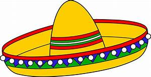 Colorful Mexican Sombrero Hat - Free Clip Art | Templates ...