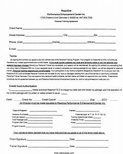 personal training contract free printable documents With exercise contract template