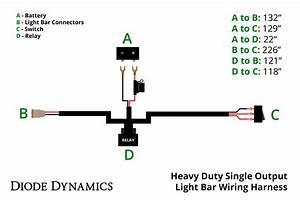 Heavy Duty Single Output Light Bar Wiring Harness