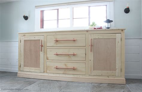 extra long buffet cabinet knock  wood diy furniture