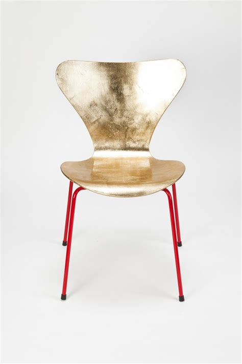 Ikea Vilmar Chair Hack by Arne Jacobsen Golden Chair Gold Leaf Plywood Laquered