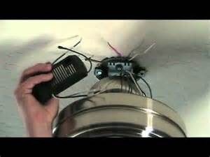 Hunter Ceiling Fan Wiring Diagram Red Wire by How To Install A Ceiling Fan With Remote Control Youtube