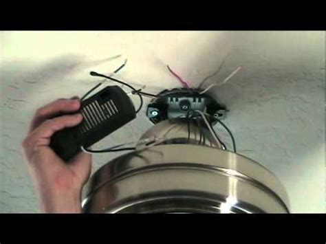 How Install Ceiling Fan With Remote Control Youtube