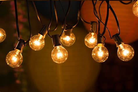 Lights Outdoor Wallpaper by String Outdoor Bulb Lights 7m R400 00 Silver