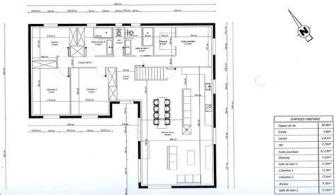 photo quot plan de maison en l 3 chambres 1 bureau quot maison