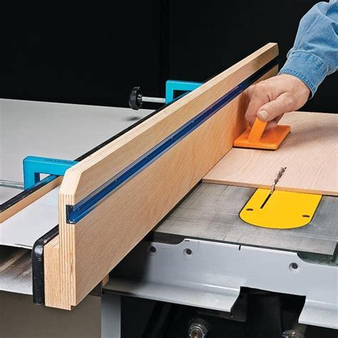 Making a wooden table saw fence homemade machines & jigs. Build an auxiliary rip fence for your table saw with a ...