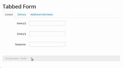 Tabbed Forms Create