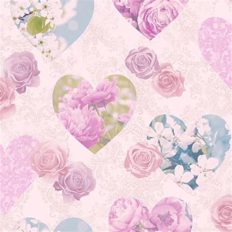 heart themed wallpaper girls bedroom pink  designs