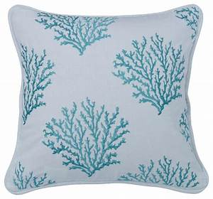shop houzz hiend accents aqua colored embroidered coral With aqua colored pillows