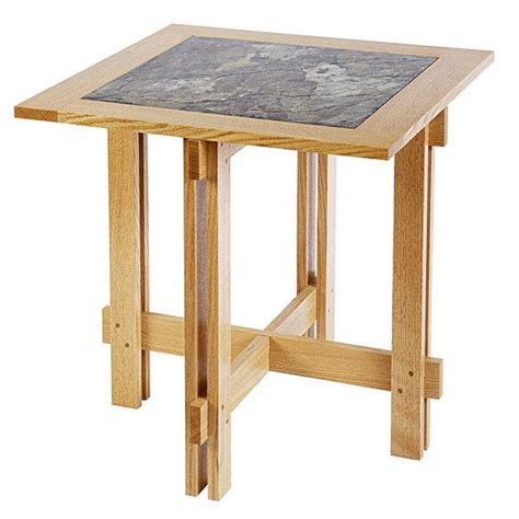 tile top accent table woodworking plan from wood magazine