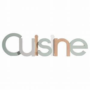 Deco Multicolore : mot d co multicolore 61x16cm cuisine maisons du monde ~ Nature-et-papiers.com Idées de Décoration