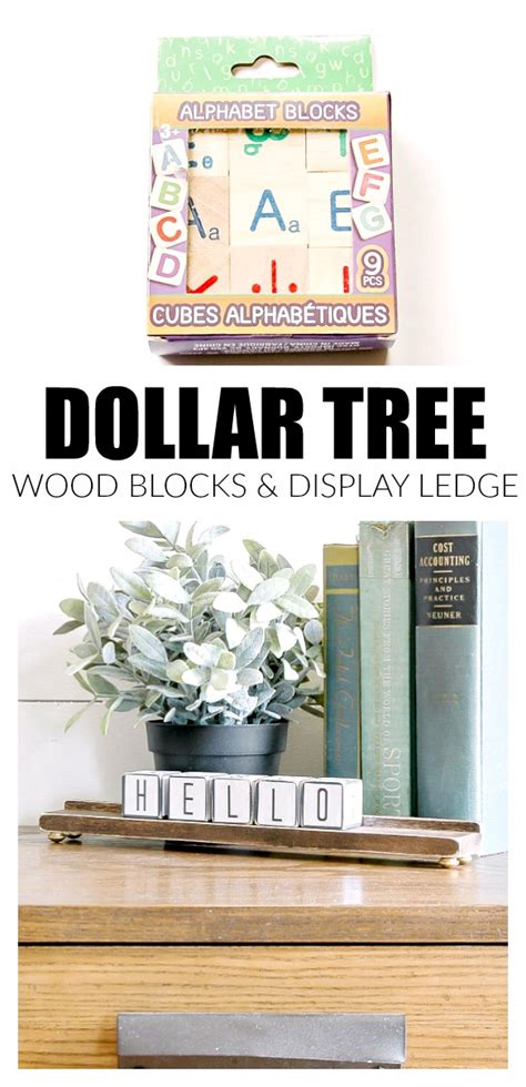 wood block calendar  dollar tree blocks