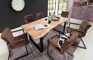 Esstisch Helles Holz : esstisch esszimmertisch tischplatte akazie massiv mit baumkante wie gewachsen lackiert und ~ Indierocktalk.com Haus und Dekorationen