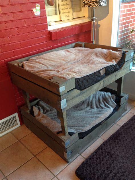 pallet dog bunk beds pallet dog beds diy stuffed