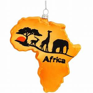 Africa Continent Glass Ornament Bronner's CHRISTmas