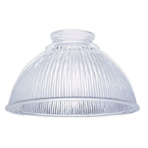 3 1 4 fitter glass shade westinghouse 3 3 4 in clear prismatic shade with 2 1 4 in 8978