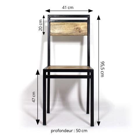 chaise bois et metal chaise industrielle métal et bois de manguier metals