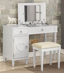 Charlotte, Makeup, Table, Set, With, Flip, Top, Mirror, And, Storage