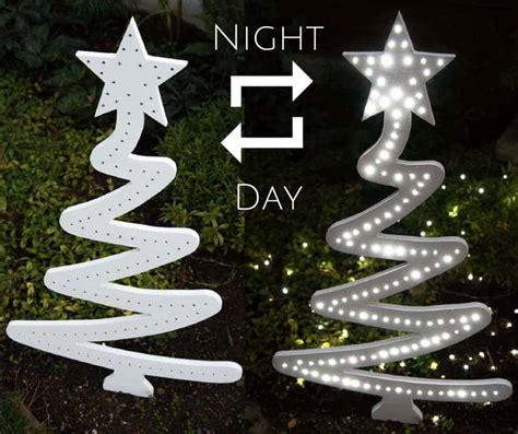diy christmas tree yard decoration  handymans daughter