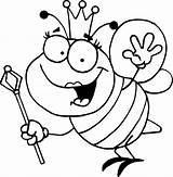 Bee Coloring Pages Queen Bumblebee Bumble Sheet Royal Sceptre Colouring Clip Drawing Bees Sheets Honey Colour Bumblebees Clipart Colornimbus Animals sketch template