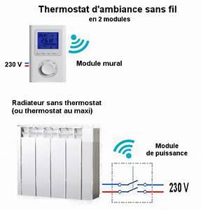 Radiateur Electrique Avec Thermostat : branchement radiateurs acova sans r gulation ~ Edinachiropracticcenter.com Idées de Décoration