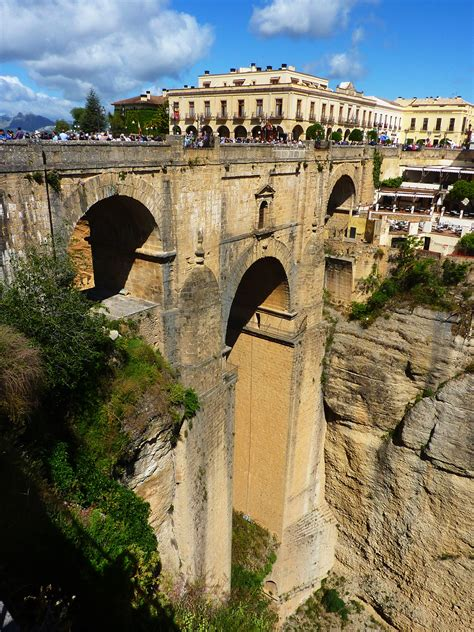 ronda ancient rome bridge andalusia ruins roman aqueduct history architecture valley monastery arch fortification landmark pxhere domain