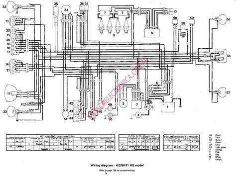 1993 Yamaha Virago 750 Wiring Diagram Schematic by Diagrama Kawasaki Kz750