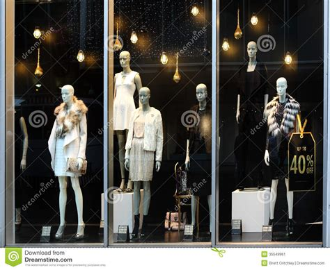 retail store window  mannequins stock image image
