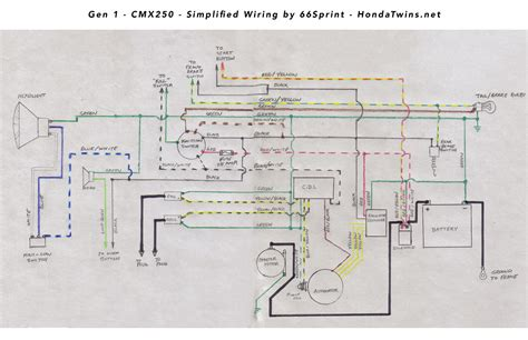 Honda Rebel Schematic by 86 Rebel 250 Wiring Diagram Wiring Library