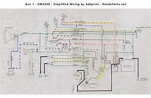 Gen 1 Honda Cmx250 Rebel Simplified Wiring Diagram