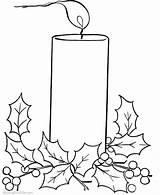 Coloring Christmas Candle Candles Pages Advent Printable Drawing Colouring Kleurplaten Template Bells Sheets Clipart Colors Holiday Getcolorings Clip Printables Templates sketch template