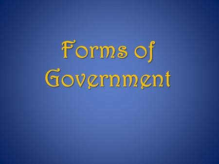 rules forms  government