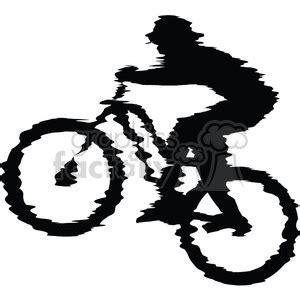 royalty  mountain bike rider  vector clip art