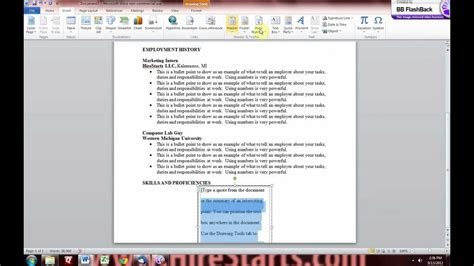 resume  microsoft word youtube