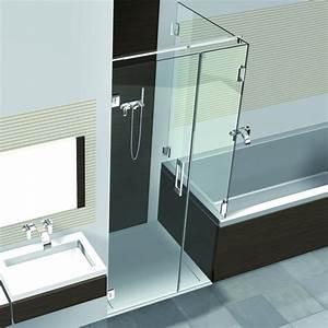Dusche Badewanne Kombination : kabine premium fl 612 mit 1 pendelt r und 2 festteilen ~ A.2002-acura-tl-radio.info Haus und Dekorationen
