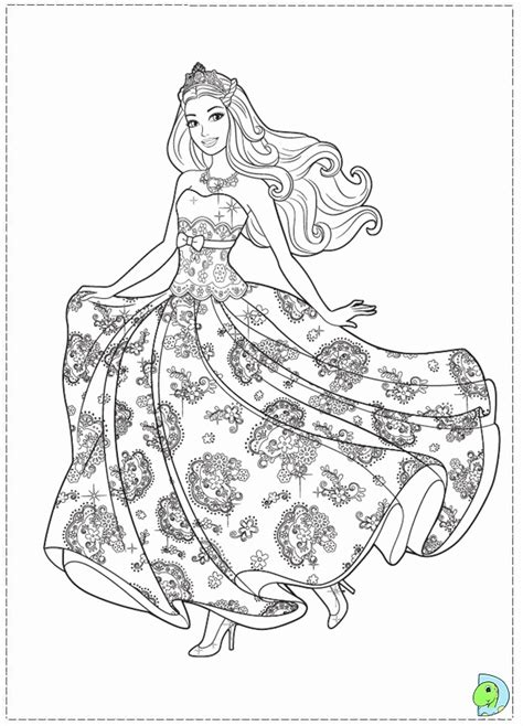barbie princess   popstar coloring pages coloring home